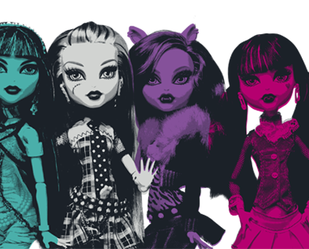 Linha Monster High Fennza / Batom e Gloss Neon