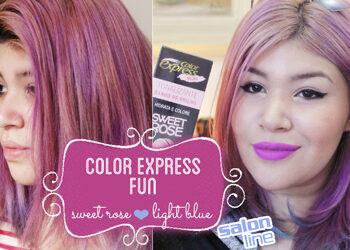 Teste Color Express Fun – Salon Line (Sweet Rose e Light Blue)
