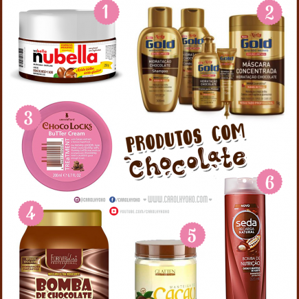 🍫 Produtos com chocolate para tratamento capilar 🍫